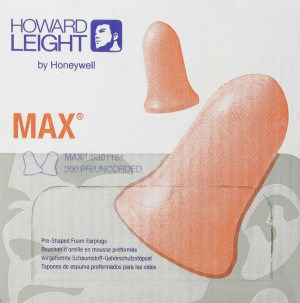 Best Earplugs for Snoring - Howard Leight MAX1 Earplugs Uncorded NRR33