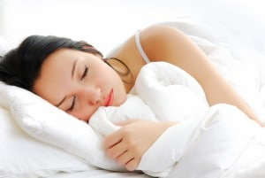 Women Sleeping With An Earplug
